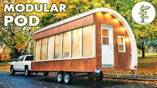 Repeat youtube video Solar Powered Pod as Prototype for Tiny House, Mobile Office & More!