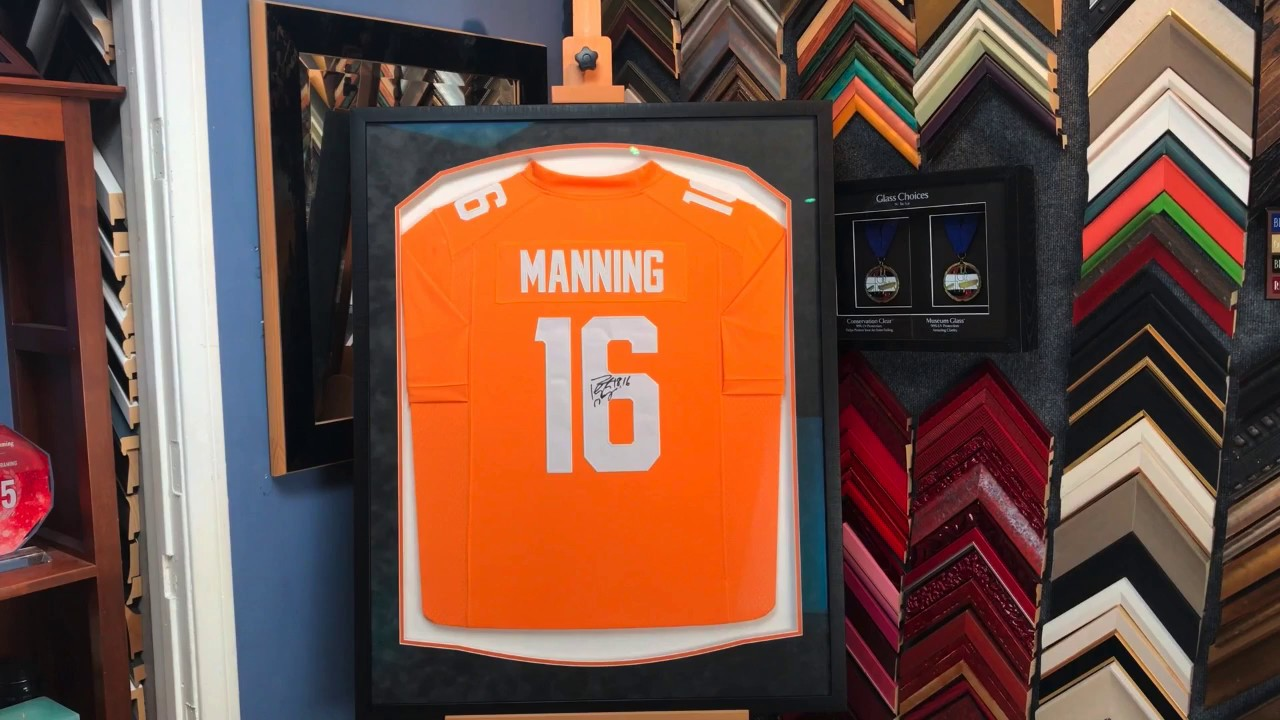 new product ef866 a6165 Framing a Peyton Manning Tennessee Jersey Clean and Classy