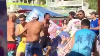מכות בין יהודים לערבים באילת  / fight between jewish and arabs in eilat city in israel