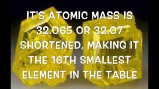 Element 16 - Sulfur