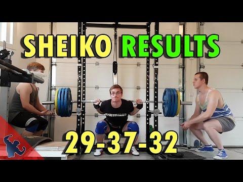 MY RESULTS OF SHEIKO POWERLIFTING PROGRAM 29-37-32