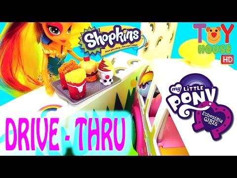 MLP My Little Ponies visit RAINBOW DRIVE-THRU Part 2
