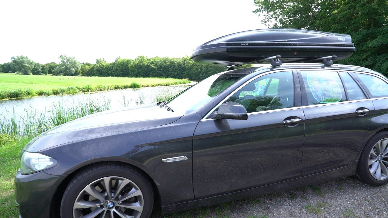Thule Atlantis 900 Roofbox On A Bmw F11 Youtube
