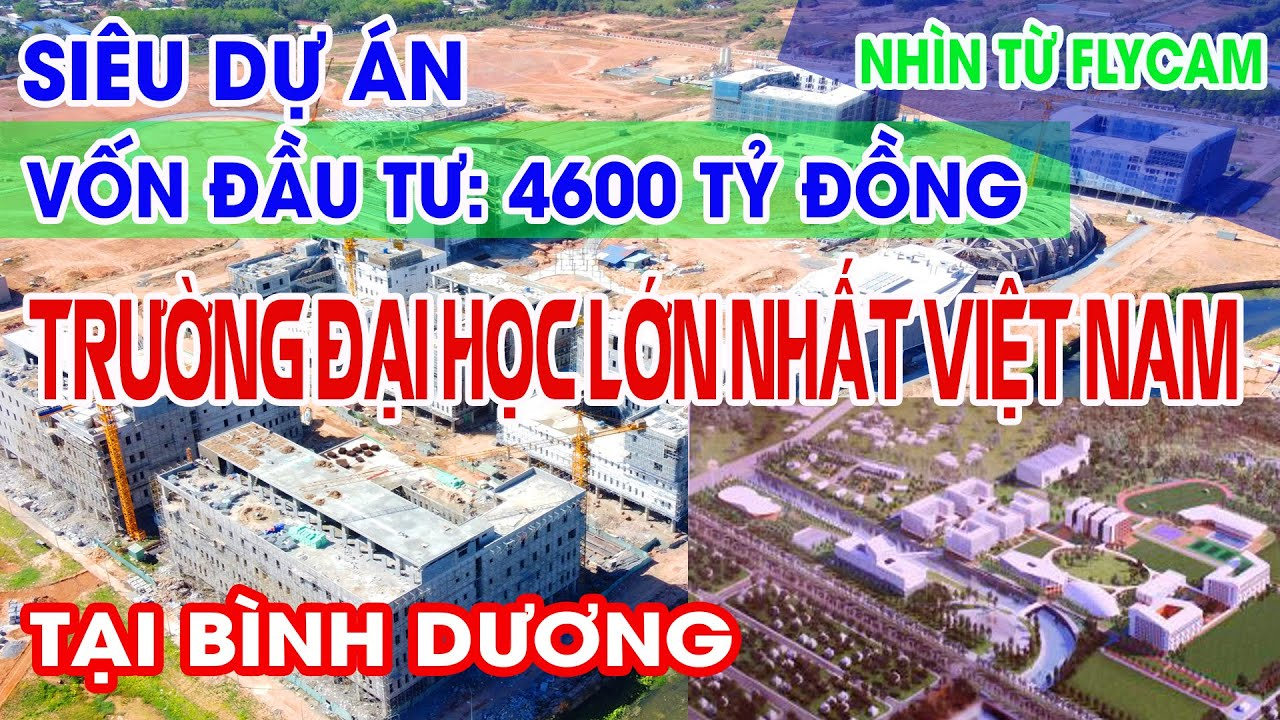 Siêu dự án – Trường Đại học lớn nhất Việt Nam – Đại học Việt Đức II BÌNH DƯƠNG TiVi