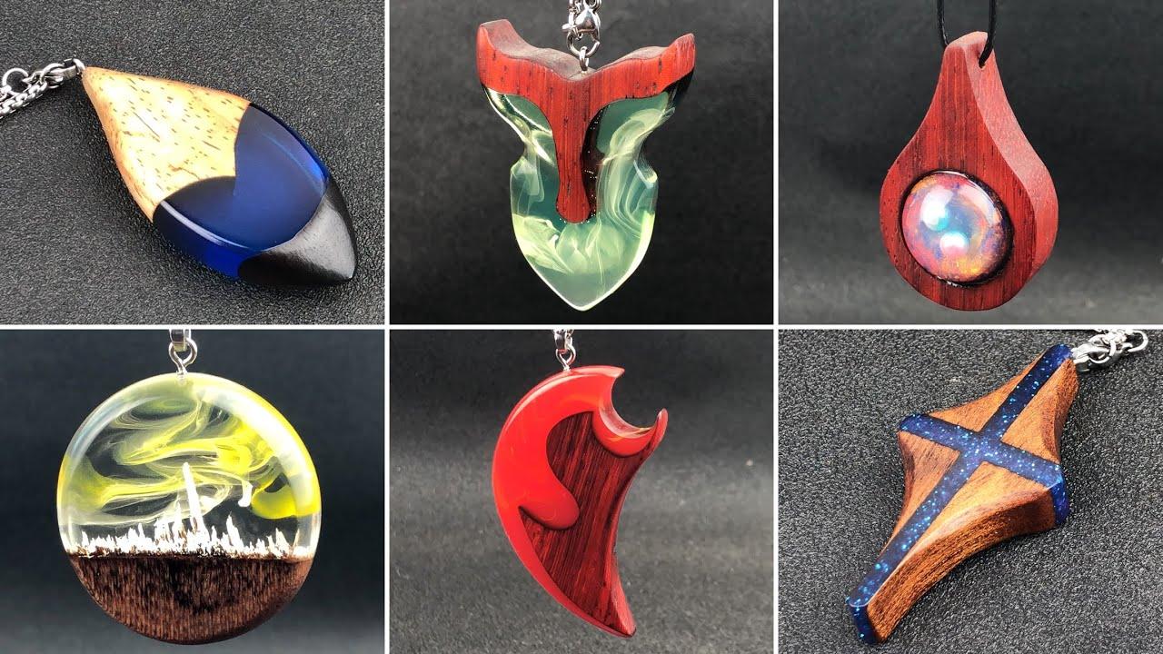Resin art Most Amazing 6 styles of pendants jewelry Essence compilation 4 / S81