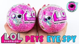 Una PETS che fa le BOLLE!? Apro DUE LOL SURPRISE PETS SERIE 4 EYE SPY!!