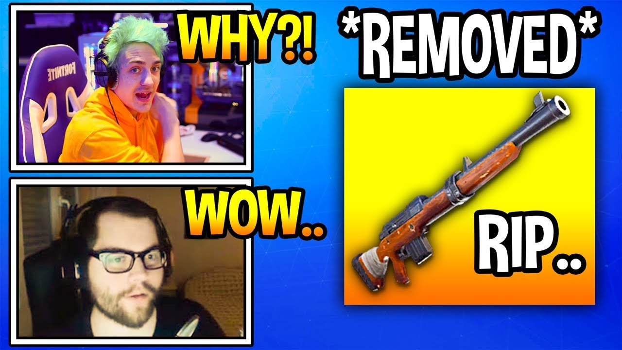 streamers-react-to-hunting-rifle-removed-from-fortnite-soon-rip-fortnite-moments