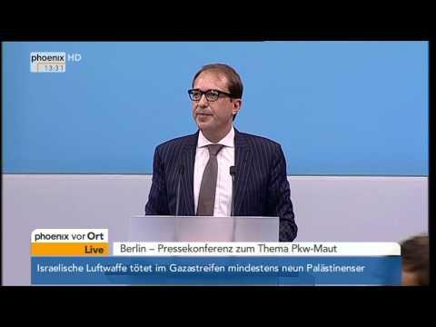 Pkw-Maut: Alexander Dobrindt präsentiert sein neues Konzept am 07.07.2014