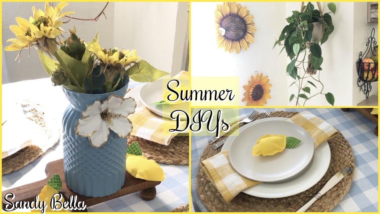 DIYs De Decoración Sencillas Y Económicas Para tu Comedor En Verano | Sandy Bella