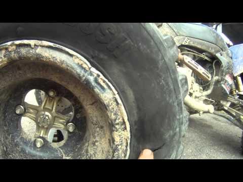 YFZ450X - DESTROYED MY TIRES - TREVORTON PA 83114