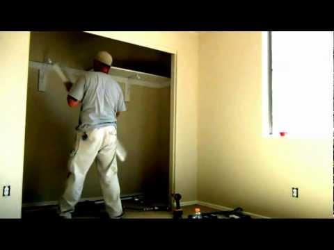 How to build a closet shelf and pole/rod installation