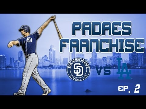 MLB The Show 17: San Diego Padres Franchise [EP. 2] S1G1 vs Los Angeles Dodgers