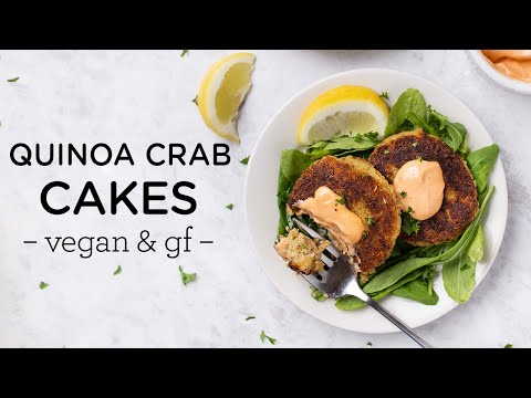 VEGAN QUINOA CRAB CAKES ‣‣ gluten-free & easy to make