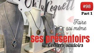 [TUTO 1/3] CRÉER son PRESENTOIR bijou (collier/sautoir) avec de la récup. thumbnail