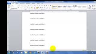 Beginner Tutorial-Microsoft Word-Lesson #1