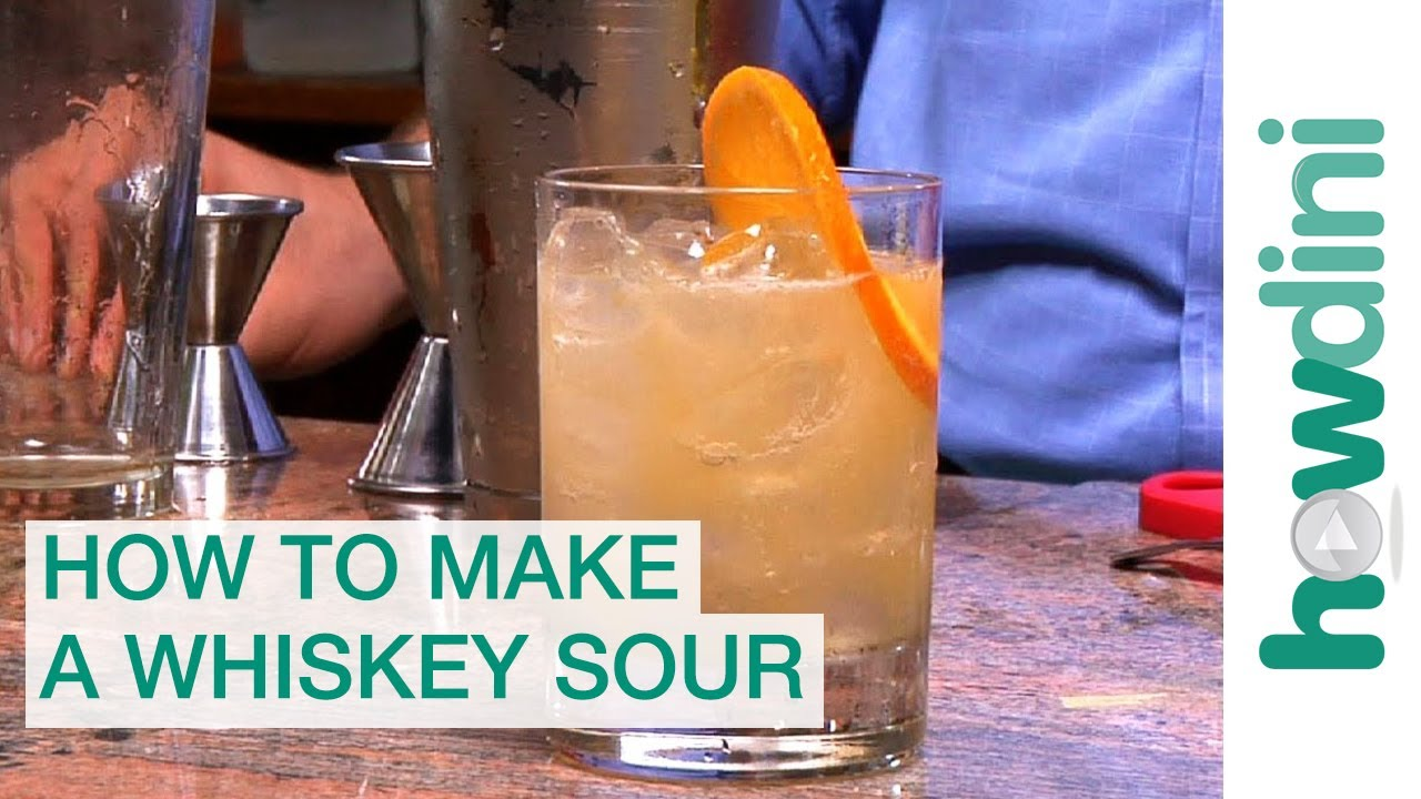 how to make whiskey sour at home