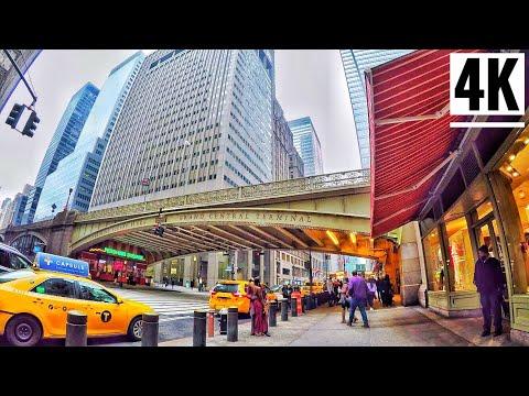 ⁴ᴷ⁶⁰ Lexington Ave To Grand Central Terminal NYC | Midtown Manhattan New York City Walking Tour 2020