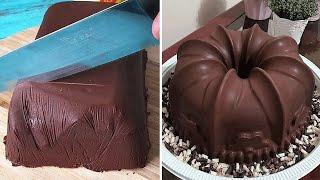 WHITE and DARK Chocolate Cake Decorating Ideas For Holiday   Tasty Chocolate Cake Compilation смотреть онлайн в хорошем качестве - VIDEOOO