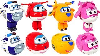 Rolling, Rolling~! Super Wings capsule egg transformers! Go Go! - DuDuPopTOY