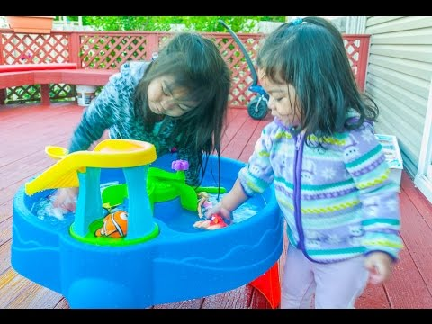 Step2 Disney Finding Dory Whirlin' Waves Water Table with Marshall Paw Patrol, Rainbow , and Barbie