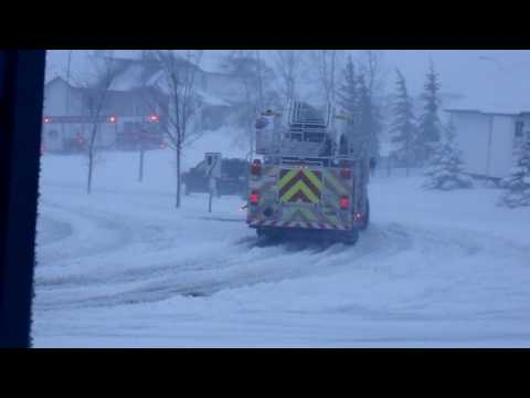 Snowy Day for FireFighters CALGARY