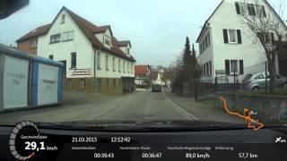 Fahrt durch Weissach