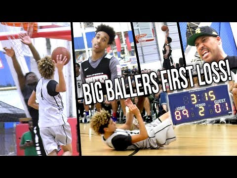 Big Ballers 1st LOSS of the Summer! Cali United DOMINATES & Tries To EXPOSE LaMelo & Big Ballers