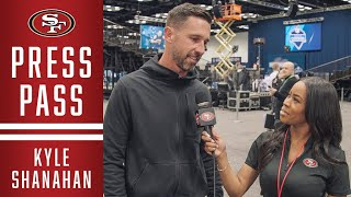 Kyle Shanahan Talks Hot Topics from Indianapolis | 49ers
