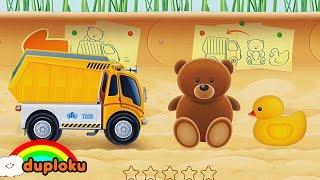 Merapikan Mainan bersama Dump Truck Truk Muatan Barang | Duploku