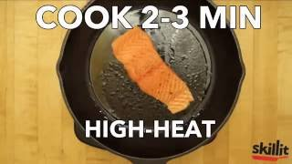 Pan-Cooked Salmon with Quinoa & Spinach | Skillit Cooking: Simple, Easy Recipes