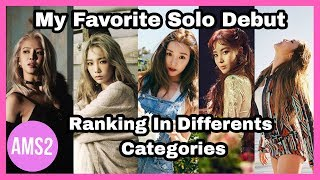SNSD My Favorite Debut ( Ranking In Differents Categories)
