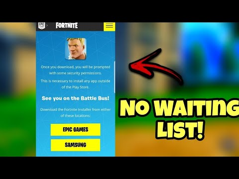 How To Download Fortnite Android No Waiting List!