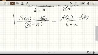 Geometrische Herleitung Mittelwertsatz (Analysis)