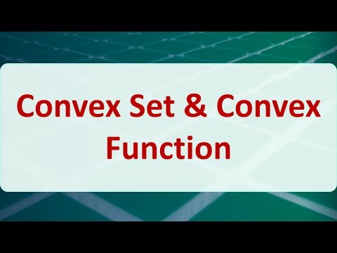 03F Convex Set & Convex Function