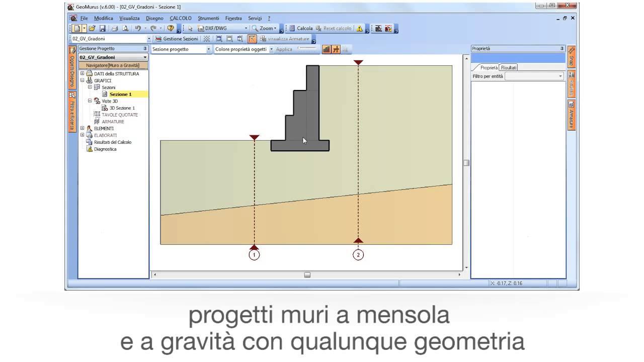 Software progettazione e calcolo muri di sostegno for Software di progettazione domestica personalizzato