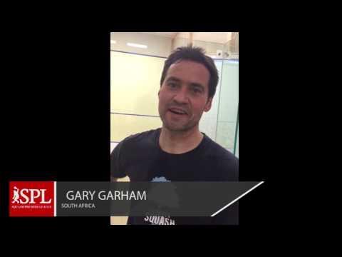 Gary Garham (South Africa) Endorses Squash Premier, League 17 - 24 April 2017, Lahore Pakistan