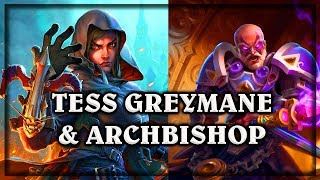 Tess Greymane & Archbishop Benedictus~ The Witchwood Hearthstone Heroes of Warcraft