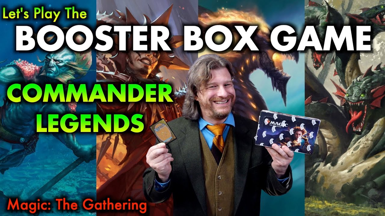 Let's Play The Commander Legends Booster Box Game! Opening Magic: The Gathering's New Set!