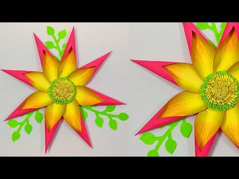 DIY Giant Paper Flowers | Paper Flower making for Wall Hanging | Home Decoration