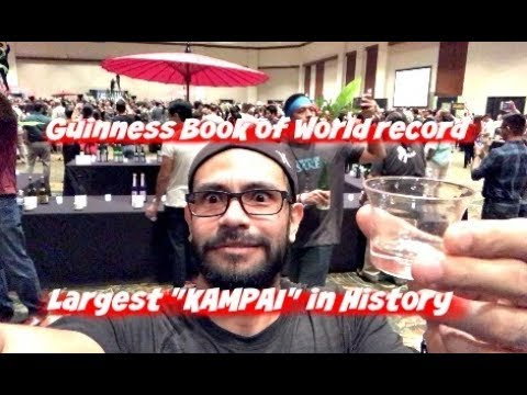"Guinness Book of World Record   ""Largest KAMPAI"" Joy of Sake Honolulu Hawaii, 2017 - VLOG"