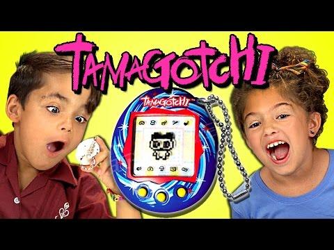 KIDS REACT TO TAMAGOTCHI (RETRO TOYS)