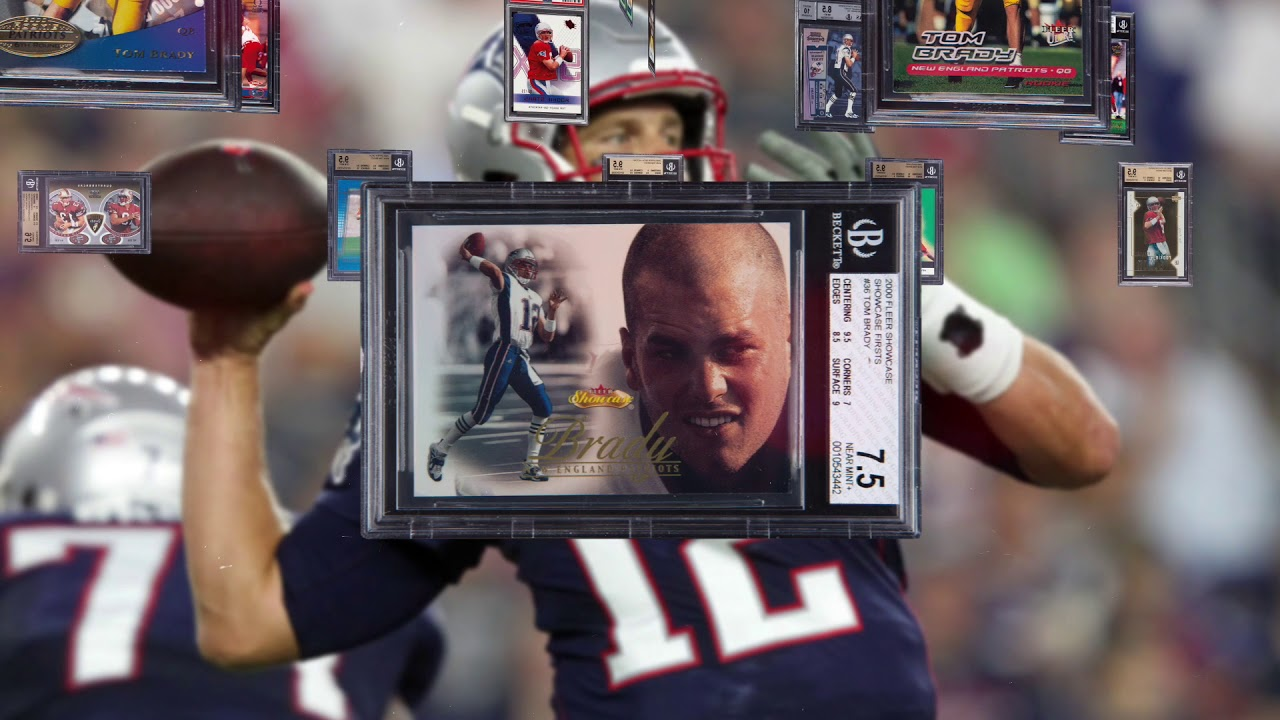 Tom Brady Rookie Card Collection Beginning Of A Legend