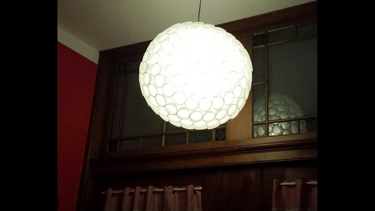 Kugellampe Aus Plastik Becher