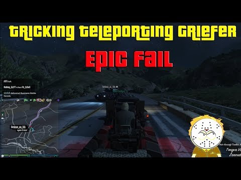 GTA Online Tricking A Teleporting Khanjali Griefer With A Flak Cannon, Epic Fail