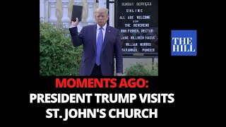 MOMENTS AGO: President Trump visits St. John's Church