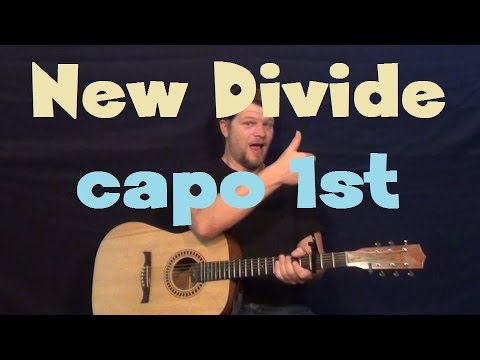 New Divide (Linkin Park) Easy Strum Guitar Lesson How to Play Capo 1st Fret