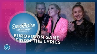 EUROVISION GAME: Finish The Lyrics 🇪🇪🇨🇿🇳🇴🇷🇴