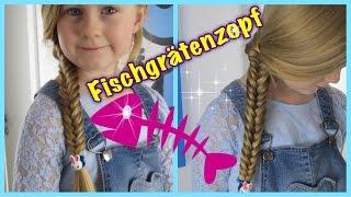 Fischgräten Zopf♦Flechten♦Basics Teil 1♦Flechtfrisur für Mädchen