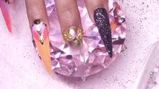 🎖️ Orange Camo 🎖️ ALL Acrylic Nails Redesign Tutorial