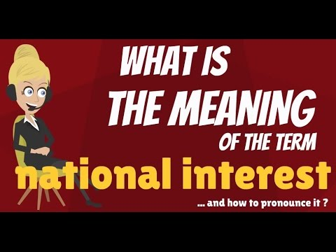 What is NATIONAL INTEREST? What does NATIONAL INTEREST mean? NATIONAL INTEREST meaning